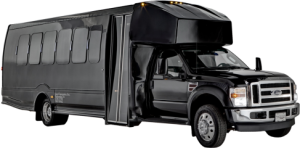 Ford LimoBus Wedding Limousine Transport Service, Holiday Lights, Holiday Window Displays Limo Tour, nfl draft